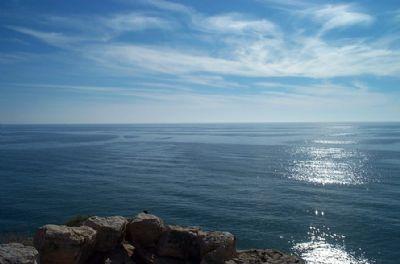 Paisaje del cielo y el mar