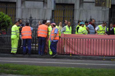 trabajadores de obras públicas