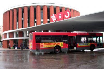 Autobús en estación de Atocha