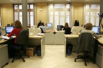 Trabajadores en oficina