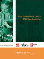 Publicación ISTAS: Lista sindical de sustancias prioritarias REACH. 2ª edición. Junio 2010.
