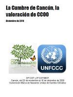 Publicación ISTAS: La Cumbre de Cancún, la valoración de CCOO.