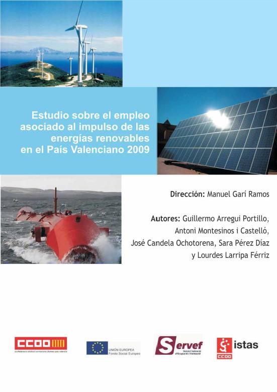Publicación ISTAS: Estudio sobre el empleo asociado al impulso de las EERR en el País Valenciano 2009.