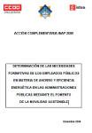 Publicación ISTAS: Determinación de las necesidades formativas de los empleados públicos en materia de ahorro y eficiencia energética en las administraciones públicas mediante el fomento de la movilidad sostenible. Diciembre de 2009.