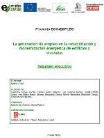 Publicación ISTAS: La generación de empleo en la rehabilitación y modernización energética de edificios y viviendas (Resumen ejecutivo).