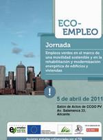 """Publicación ISTAS: Jornada """"Empleos verdes en el marco de una movilidad sostenible y en la rehabilitación y modernización energética de edificios y viviendas"""", Alicante, 5 de abril de 2011."""