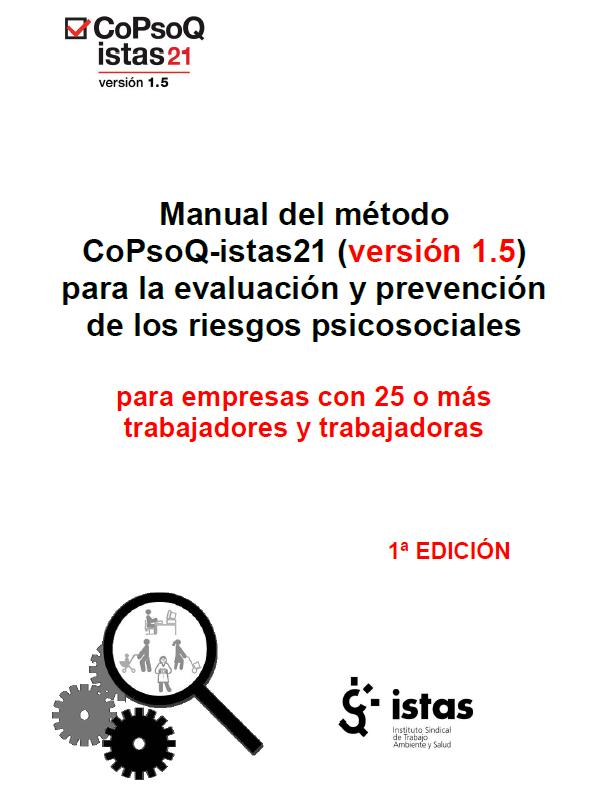 Publicación ISTAS: Marco conceptual del método.