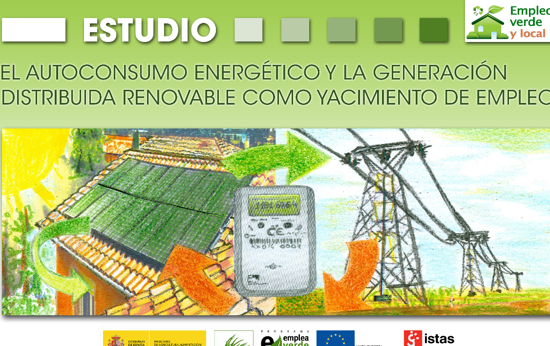 Publicación ISTAS: El Autoconsumo energético y la generación distribuida renovable como yacimiento de empleo. Estudio.