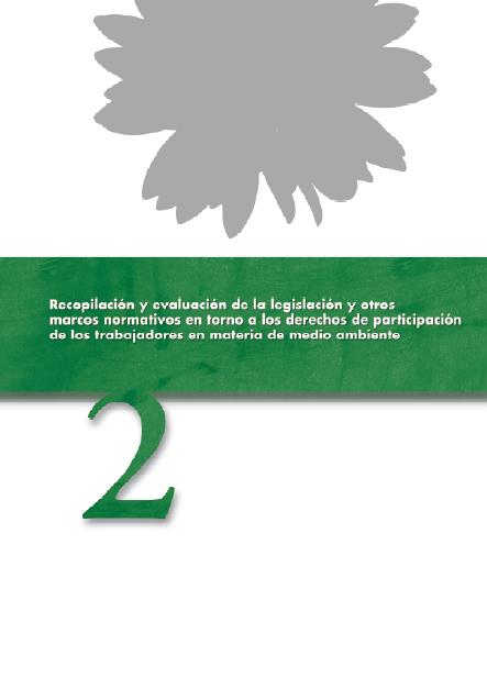 Publicación ISTAS: Recopilación y evaluación de la legislación y otros marcos normativos en torno a los derechos de participación de los trabajadores en materia de medio ambiente.