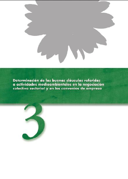 Publicación ISTAS: Determinación de las buenas cláusulas referidas a actividades medioambientales en la negociación colectiva sectorial y en los convenios de empresa.