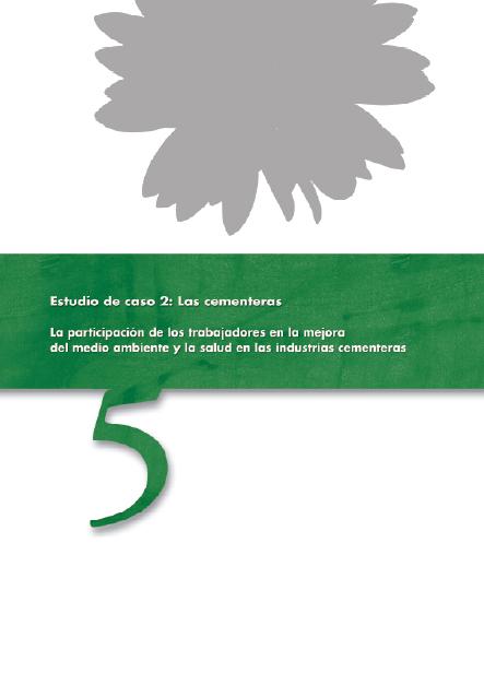 Publicación ISTAS: La participación de los trabajadores en la mejora del medio ambiente y la salud : el caso de las cementeras. La participación de los trabajadores en la mejora del medio ambiente y la salud en las industrias cementeras