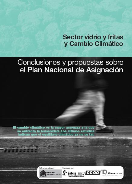 Publicación ISTAS: Vidrio y fritas y cambio climático. Conclusiones y propuestas sobre el Plan Nacional de Asignación