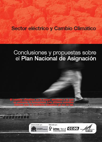 Publicación ISTAS: Sector eléctrico y cambio climático. Conclusiones y propuestas sobre el Plan Nacional de Asignación