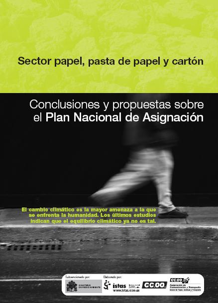Publicación ISTAS: Sector papel, pasta de papel y cartón y cambio climático. Conclusiones y propuestas sobre el Plan Nacional de Asignación