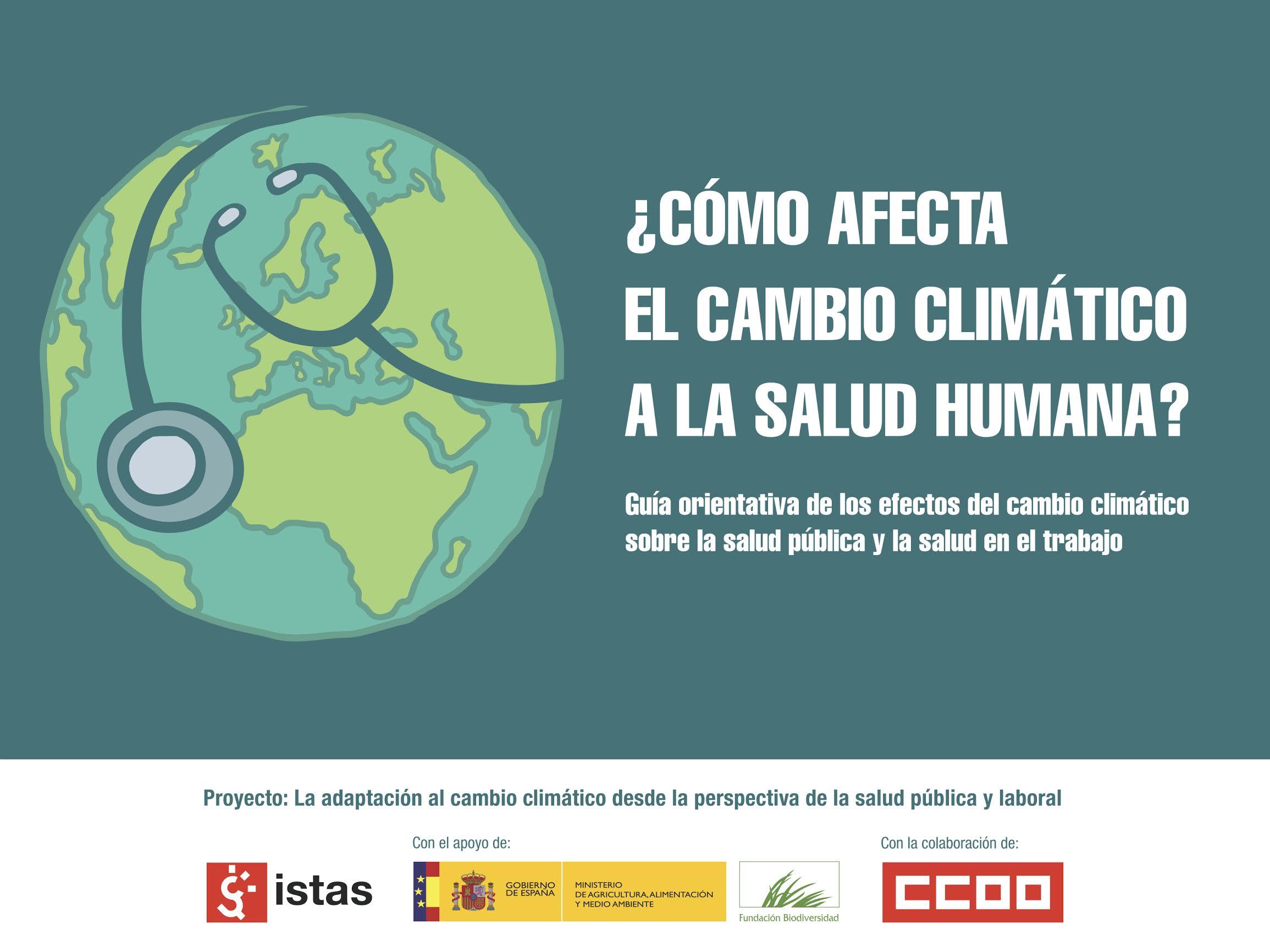 Publicación ISTAS: Guía sobre los efectos del cambio climático en la salud pública y en el trabajo.