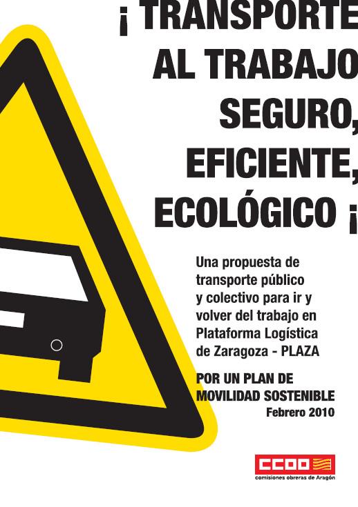Publicación ISTAS: Transporte al trabajo seguro, eficiente y ecológico. Folleto. Febrero 2010.